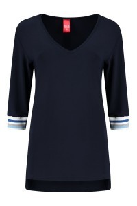 Only M - Top korte mouw navy