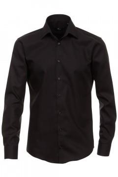 Venti slim fit overhemd zwart