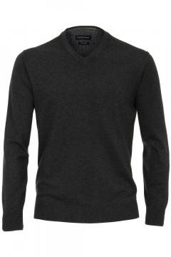 Casa Moda V-hals sweater - Donkergrijs