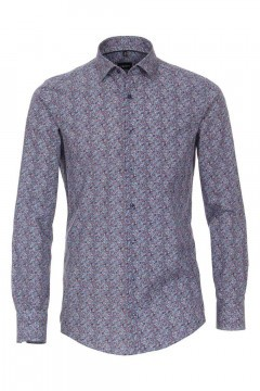 Venti Modern Fit Overhemd - Blue Paisley