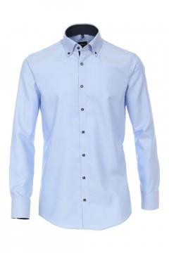 Venti Modern Fit Overhemd - Hemelsblauw