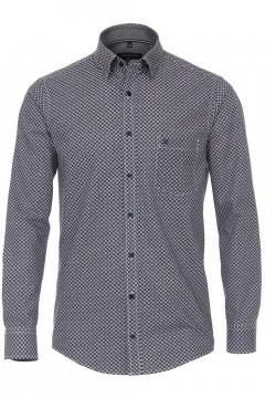 Casa Moda Casual Fit overhemd - Donkerblauw/multi