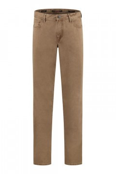 Alberto Jeans Pipe - Brown Twill