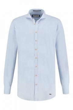 Blue Crane Slim Fit Overhemd - Lichtblauw gemeleerd