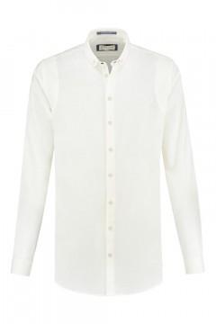 Blue Crane Slim Fit Overhemd - Linnen wit