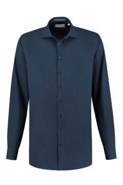 Blue Crane Tailored Fit Overhemd - Denim Donkerblauw