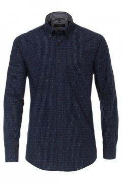 Casa Moda Casual Fit overhemd - Navy/geruit