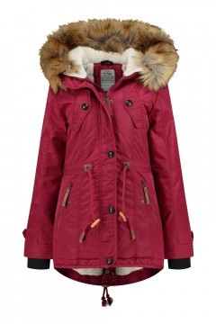 Brigg Winterjas - Bontrand rood