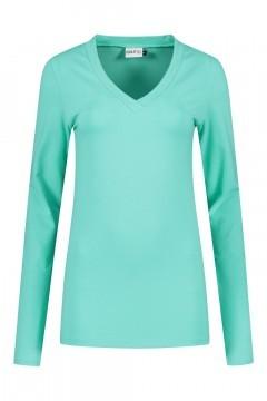 Highleytall - V-hals shirt lange mouw zeegroen