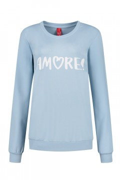 Only M - Sweater Amore lichtblauw