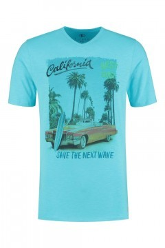 Kitaro T-Shirt - California Blauw