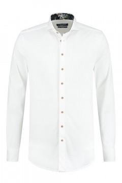 Ledûb Modern Fit Overhemd - White Structure