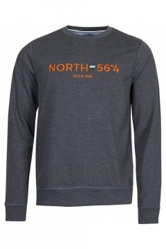 North 56˚4 Sweater - Since 1998 Grijs