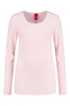 Only M - Basic ronde hals top roze