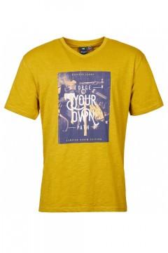 Replika Jeans v-hals T-Shirt - Forge Mustard