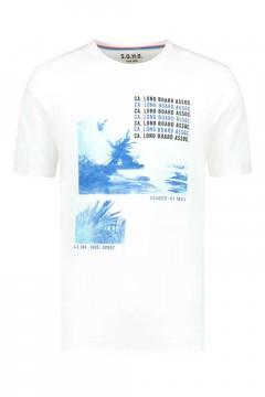 SOHO T-Shirt - Long Board White