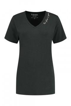 SOHO V-hals Shirt - Future Carbon
