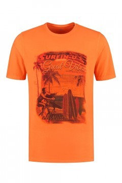 Kitaro T-Shirt - Great Vibes Oranje