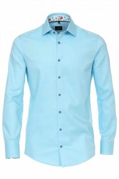 Venti Modern Fit Overhemd - Structuur Aqua