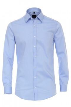 Venti Body Fit Overhemd - Lichtblauw