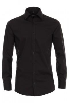 Venti Body Fit Overhemd - Zwart