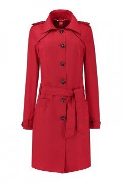 Only M Trenchcoat - Imprime Rood