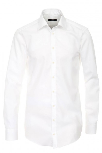 Venti slim fit overhemd wit