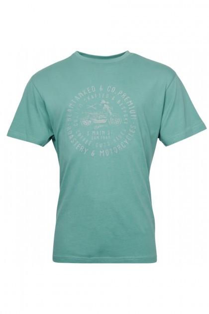 Replika Jeans T-Shirt - Barber Green