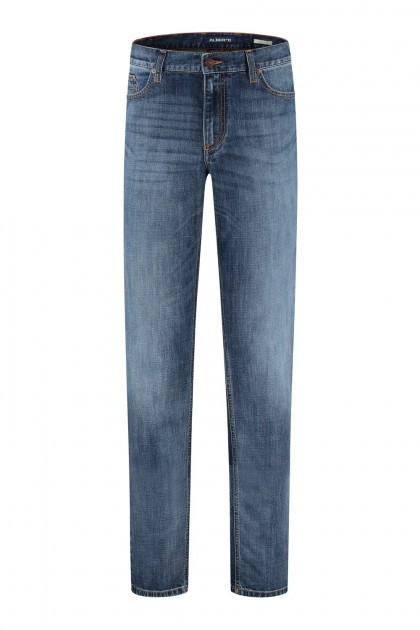 Alberto Jeans Pipe - Blue Used Denim