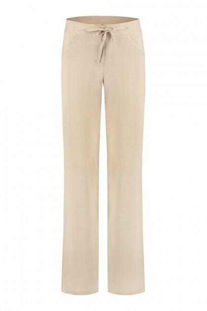 Only M - Pantalon Lino Beige