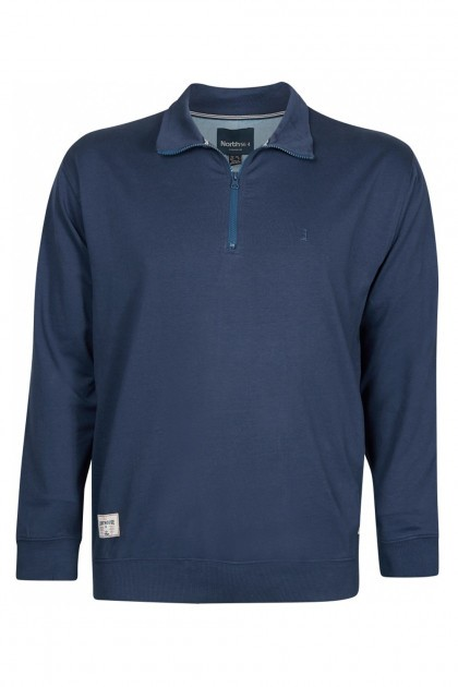 North 56˚4 Sweater Rits - Navy