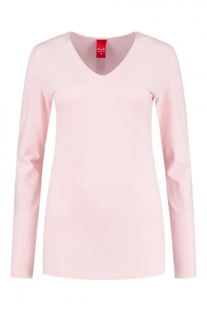 Only M - Basic V-hals top roze