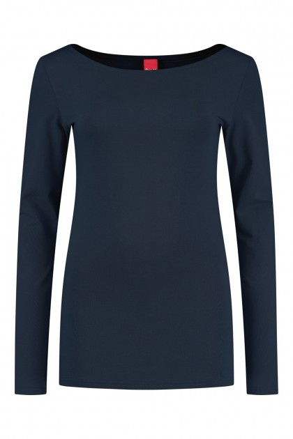 Only M - Basic boothals top navy