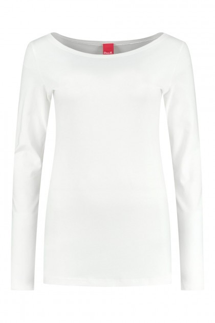 Only M - Basic boothals top offwhite