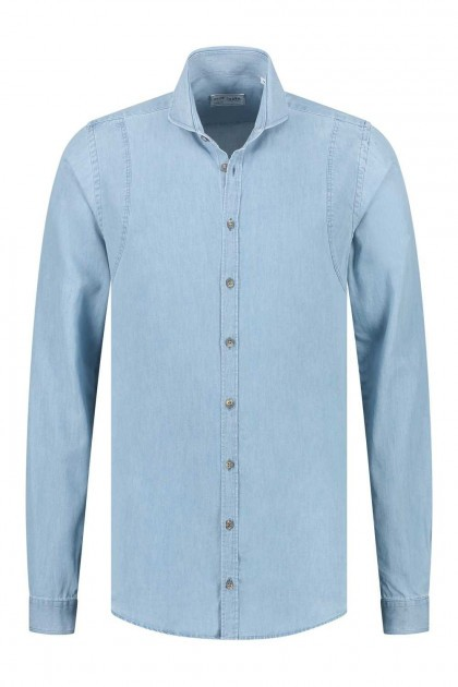 Blue Crane Slim Fit Overhemd - Lichtblauw