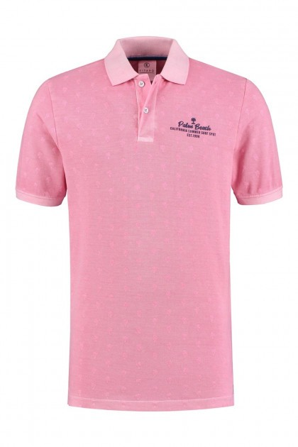Kitaro Poloshirt - Palm Beach Pink