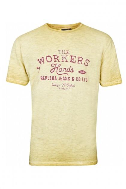 Replika Jeans T-Shirt - Workers Mustard