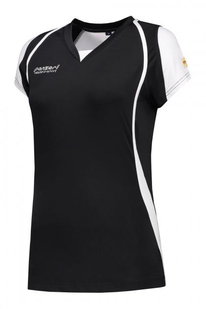 Panzeri Cannes Cap Sleeves Shirt - Zwart