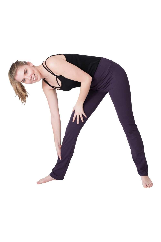 We Love Long Legs Yogabroek donkerpaars