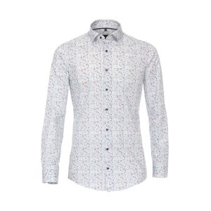 Venti Modern Fit Overhemd - Dots Light