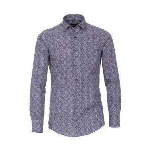 Venti Modern Fit Overhemd - Blue Paisley