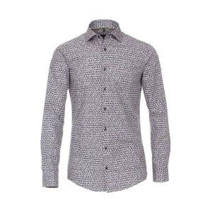 Venti Modern Fit Overhemd - Dots Dark