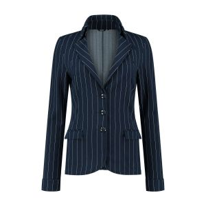 Chiarico - Korte Blazer Punto Navy Stripe