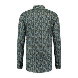 Corrino Overhemd - Milano Grey Print