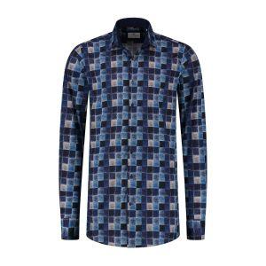 Corrino Overhemd - Milano Blue Blocks