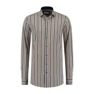 Corrino shirt - Milano Stripes Beige