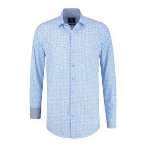 Corrino overhemd - Milano lichtblauw print