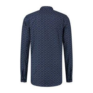 Corrino Overhemd - Paisley Print Navy