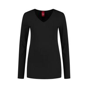 Only M - Basic V-hals top zwart