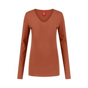 Only M - Basic V-hals top oranje